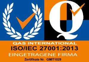 ISO 27001:2013 Zertifikat von Lionware GmbH